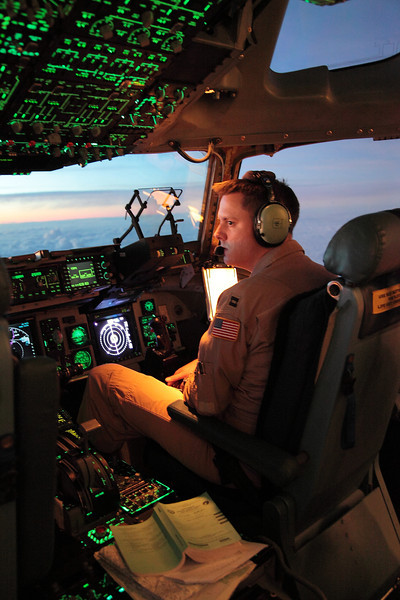 Dawn over Germany on the C17s' flight deck.<br /> <br /> ~ Image by Martin McKenzie All Rights Reserved ~